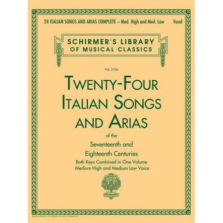 Hal Leonard 24 Italian Songs & Arias Complete
