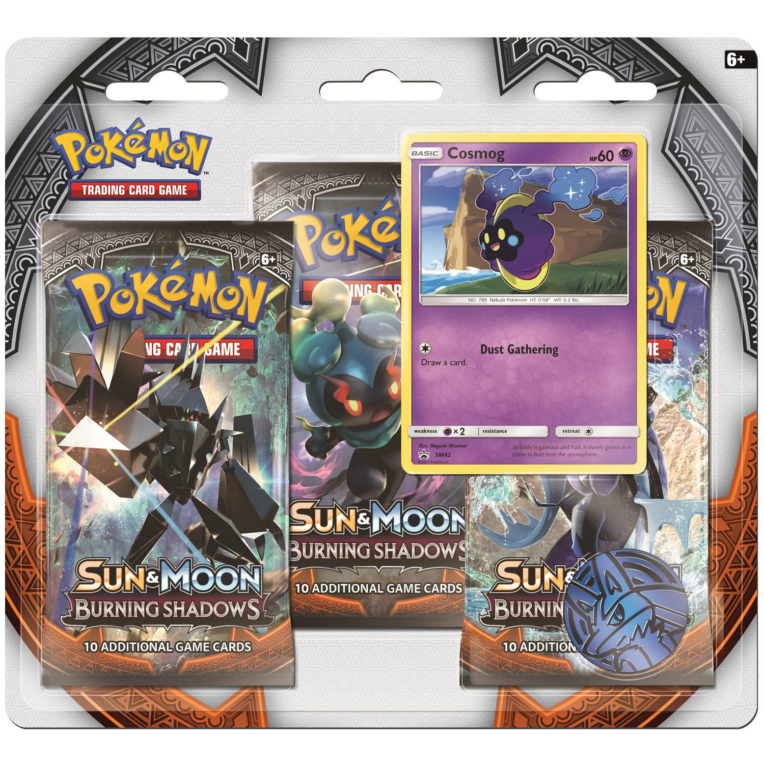 Pokemon Sun and Moon Burning Shadows 3-Pack Plus Foil Promo Card by Pokemon