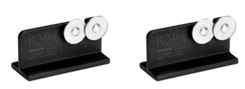 Rada Cutlery R119 Quick Edge Knife Sharpener with Hardened Steel Wheels, 2 Pack by Rada Cutlery