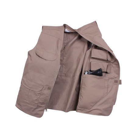 Lightweight Professional Concealed Carry Vest, Khaki,