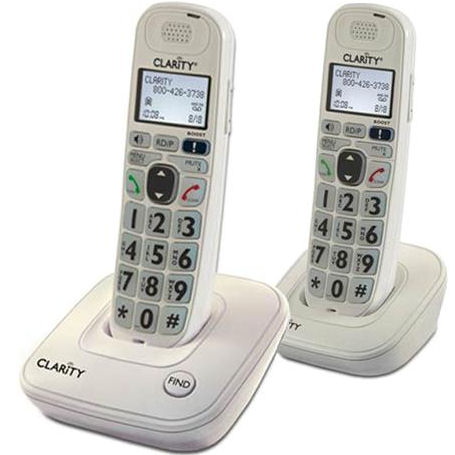 Clarity D702C DECT 6.0 Amplified Low Vision Expandable Cordless Phone with Large Font Caller ID Display - 2 Handset Pack