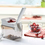 Leifheit High-Volume Cherry Pitter with Pit Collector, White