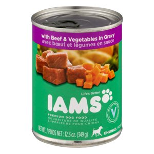 Iams Premium Dog Food, Chunks With Beef & Vegetables In Gravy, 12.3 Oz