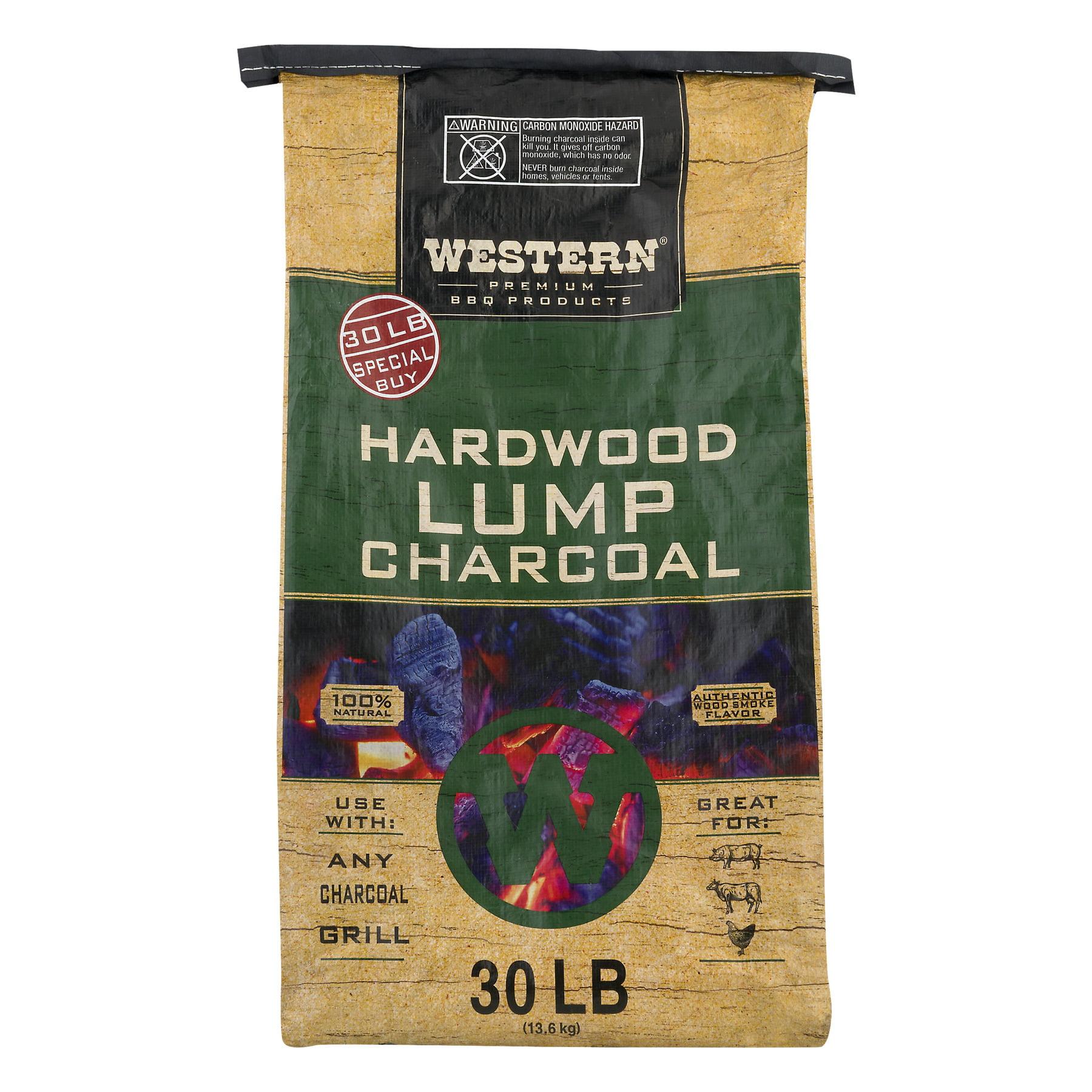Western Premium BBQ 30LB Hardwood Lump Charcoal