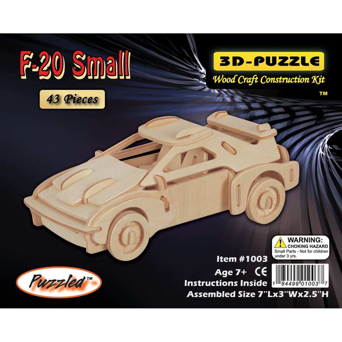 Puzzled F-20 Car 3D Puzzle Wood Craft Construction Kit by Overstock