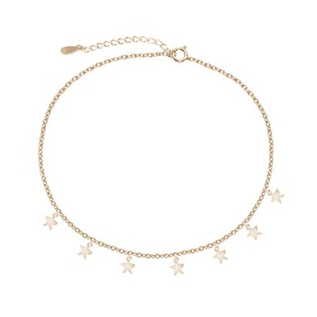 Women Girl Summer Gold Silver Plated Star Chain Choker Pendants Necklace Jewelry (Gold)