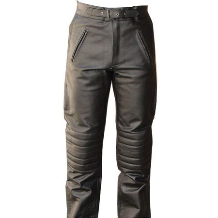 Heated Motorcycle Pants (Perrini V-Pilot Motorbike Cowhide Leather Motorcycle Pants Lined )