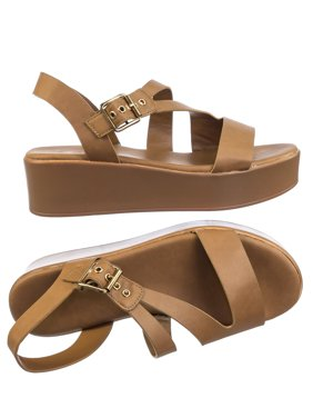 1c909110e737af Brown Womens Sandals   Flip-flops - Walmart.com