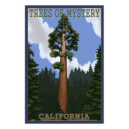Trees of Mystery - California Redwoods Print Wall Art By Lantern Press ()