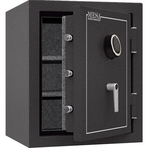 Mesa Safe MBF2620E Fire Resistant Security Safe with Electronic Lock, Hammered Grey