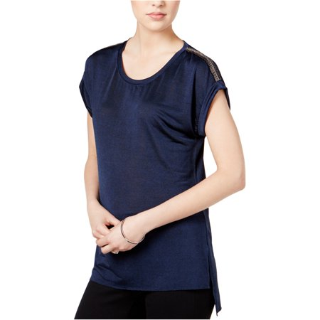 Bar Iii Womens High-Low Embellished T-Shirt