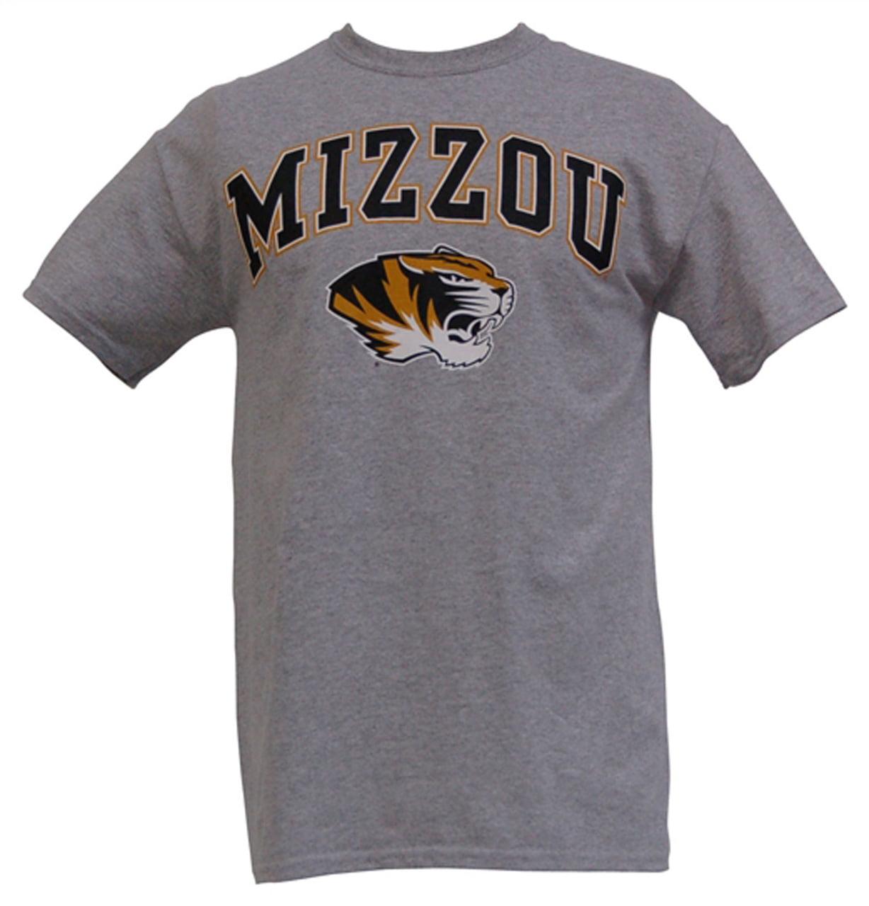Missouri Tigers Adult Arch and Logo T-Shirt - Sport Gray