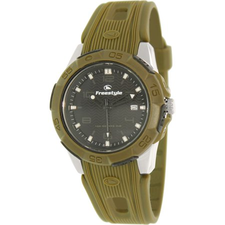 Men's Kampus 10016968 Green Rubber Analog Quartz Sport Watch - Freestyle Mens Green