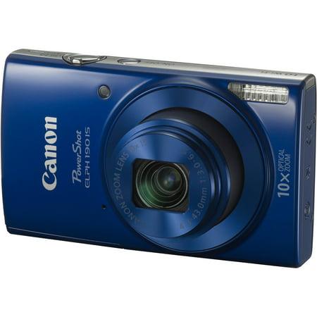 Canon PowerShot ELPH 190 IS Digital Camera (Blue) - Walmart.com