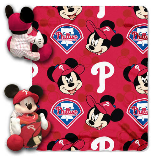 MLB Philadelphia Phillies Mickey Mouse Pillow with