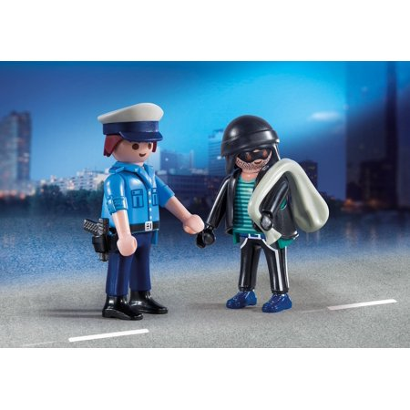 Saber Duo Pack (Playmobil Duo Pack #9218 Policeman and Burglar - New Factory Sealed )