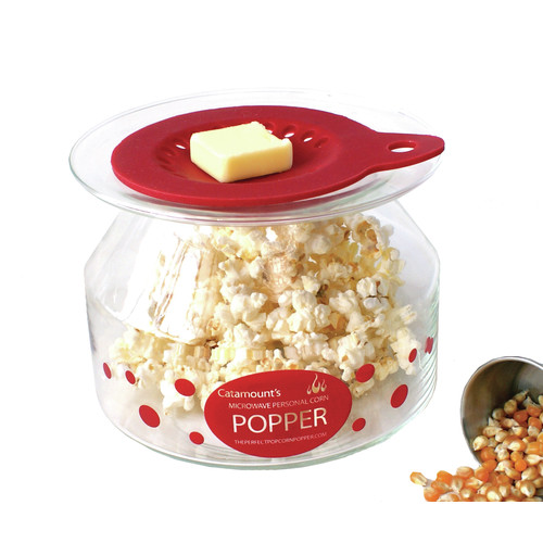 Catamount Glass 2 Oz Personal Microwave Popcorn Popper