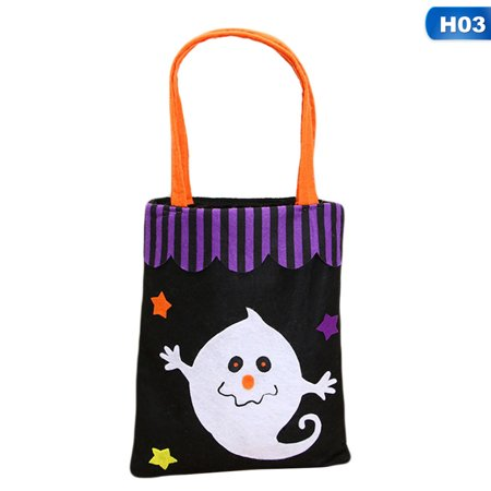 KABOER Funny  Colorful Halloween Candy Bag Gift Bags Pumpkin Trick Or Treat Bags Sacks Hallowmas Gift For (Children's Gift Bags)