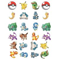 ? Pokemon Go Themed - Fun Fully Edible Boys Girls Birthday Party Cup Cake Toppers (48)