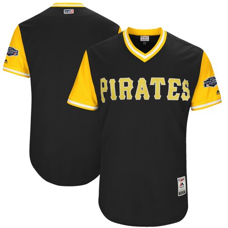 Pittsburgh Pirates Majestic 2017 Players Weekend Authentic Team Jersey - Black