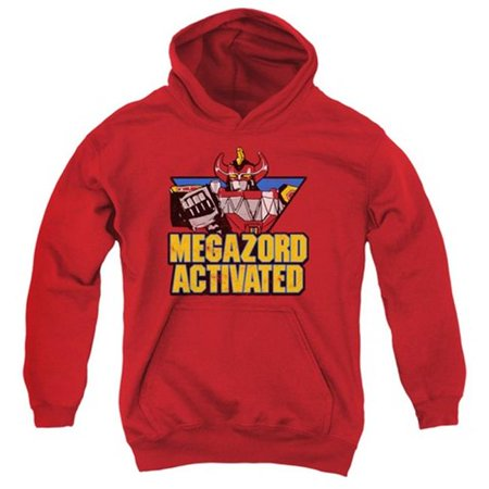 Trevco Power Rangers-Megazord Activated Youth Pull-Over Hoodie, Red - XL