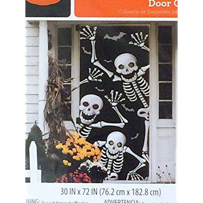 Skeleton Door Cover - Halloween Wall - Halloween Classroom Door