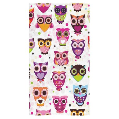 ZKGK Colorful Owl Cute Pattern for Kids Beach Bath Towels Bathroom Body Shower Towel Bath Wrap For Home Outdoor Travel Use 30