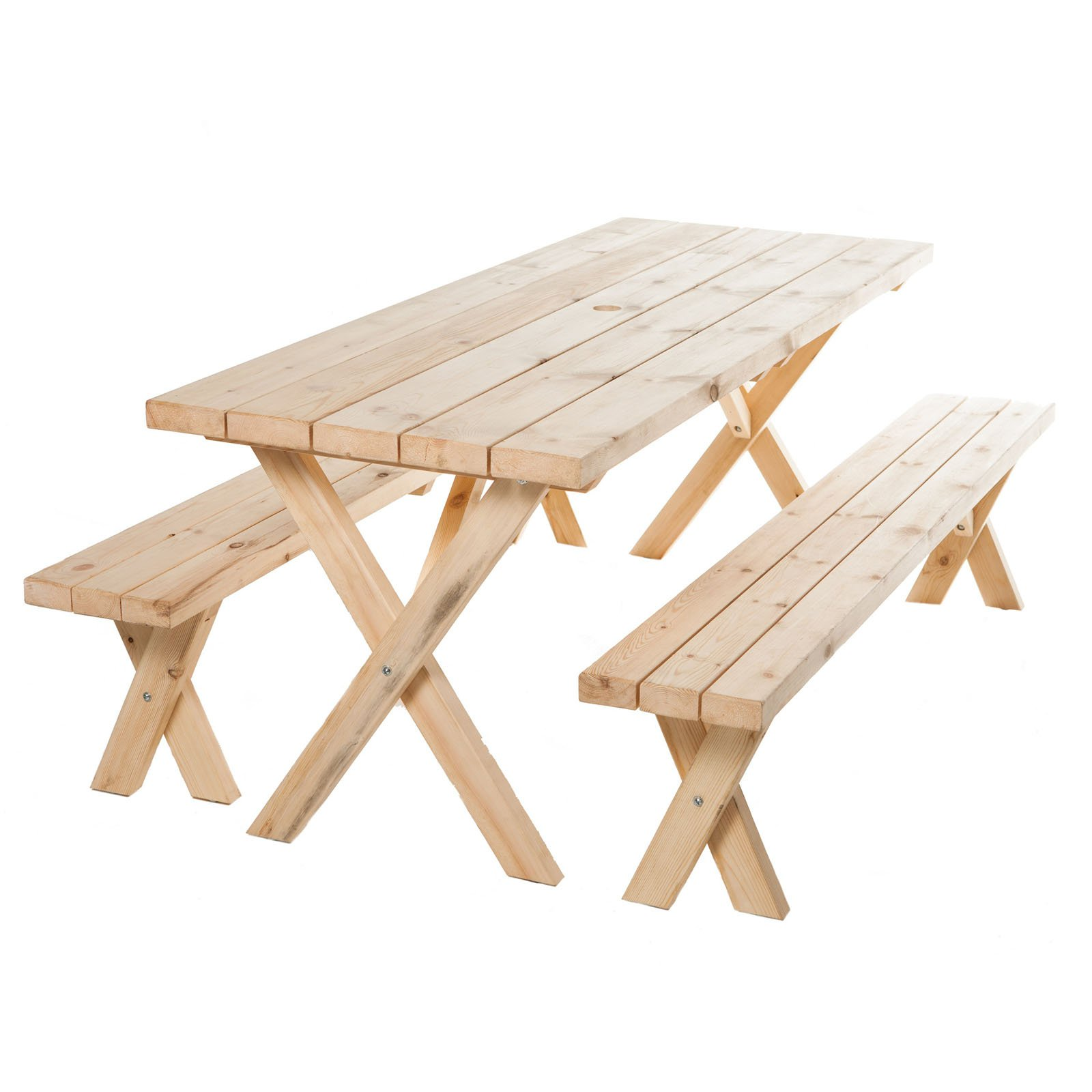 American Cross Leg Cedar Picnic Table   6 Ft.
