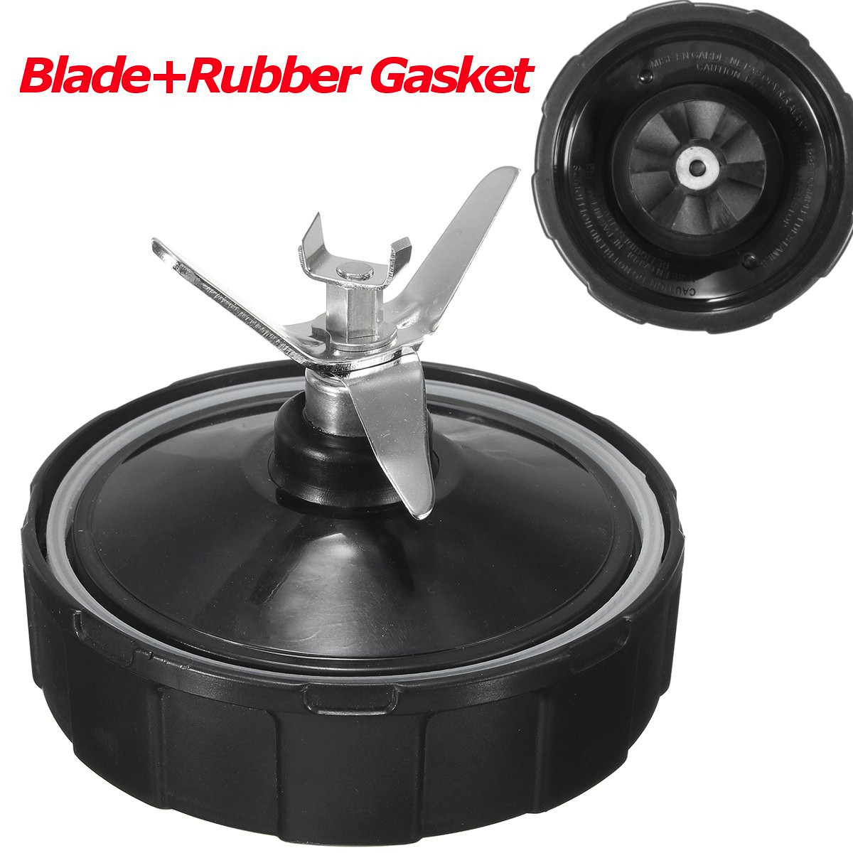 "4"" 6-Fins Extractor Blade Parts with Gasket Rubber Seal Ring For Nutri Ninja Blender 900W 1000W BL450 BL451 BL454 BL482-70"
