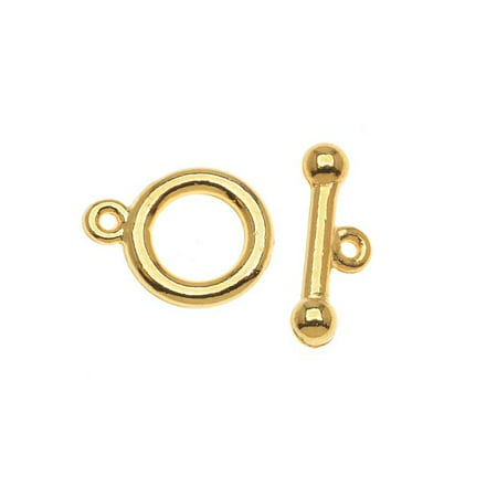 22K Gold Plated Toggle Clasps 9mm (5 - Toggle Clasp