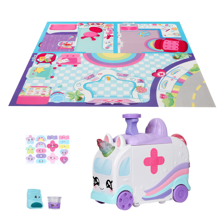 Kindi Kids Hospital Corner - Unicorn Ambulance - Playmat included