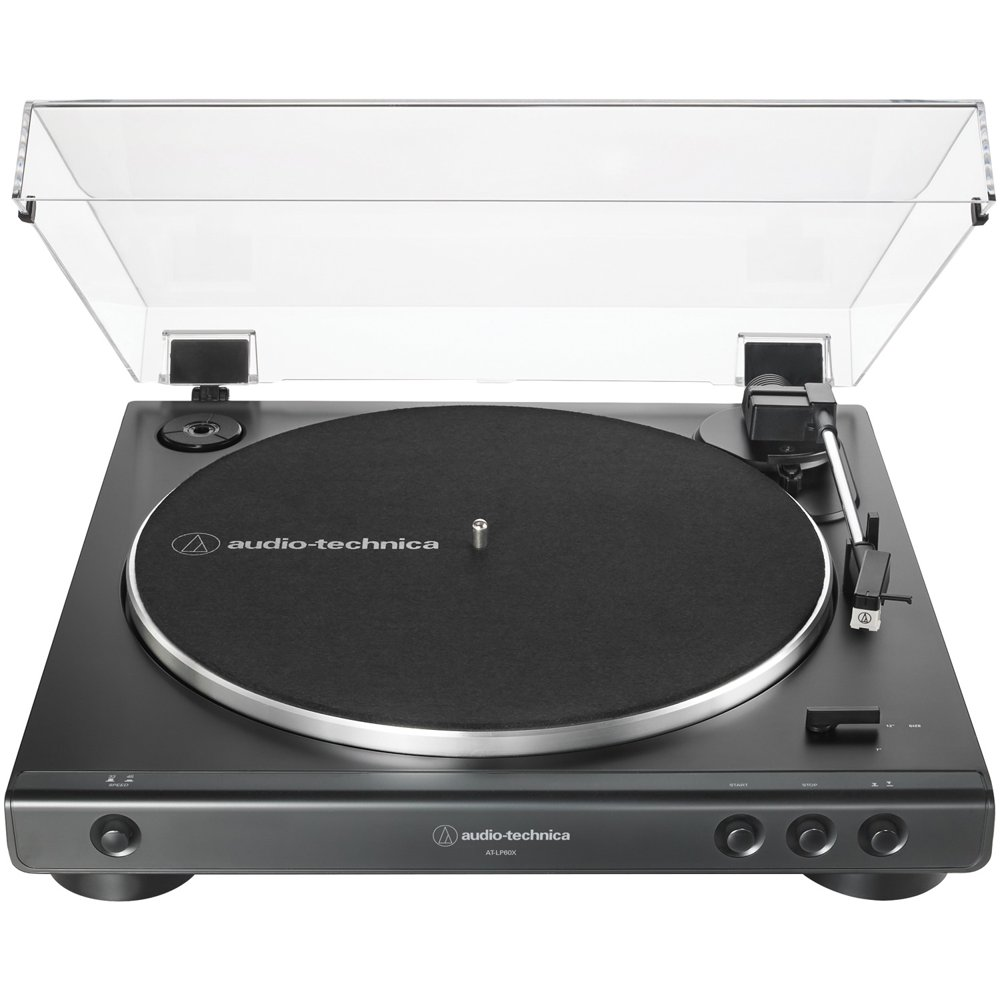 Audio Technica AT-LP60X-BK Fully Automatic Belt-Drive Stereo Turntable- Black