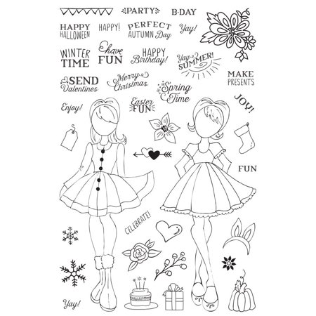 Prima Marketing Clear Stamp - 655350911713 Julie Nutting Planner Clear Stamp