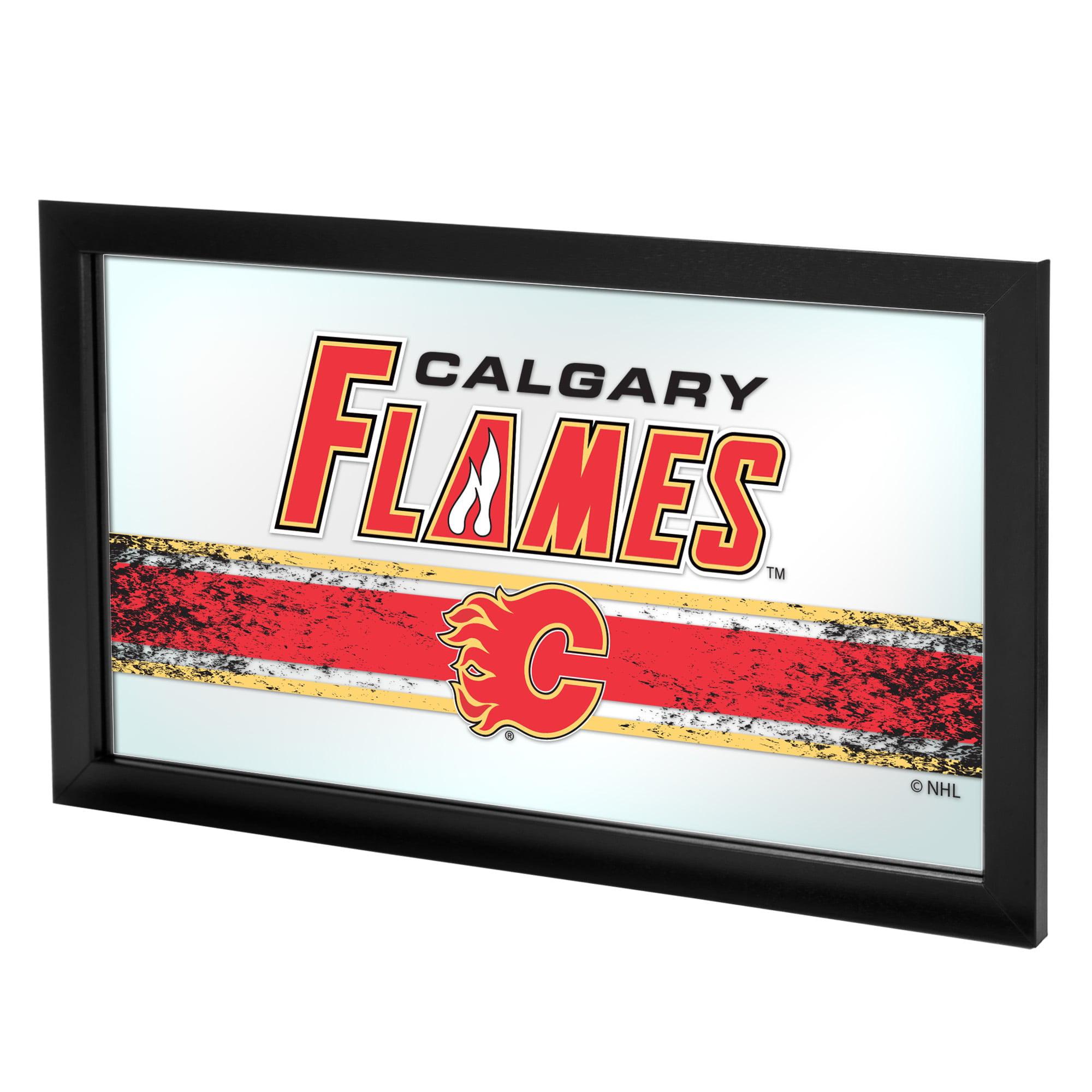 NHL Framed Logo Mirror, Calgary Flames