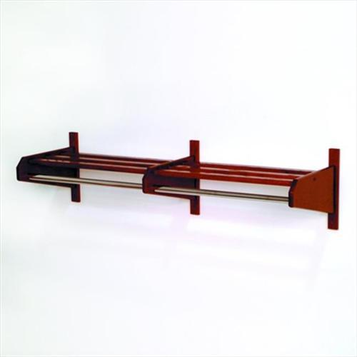 Wooden Mallet 48DCRMO-58 48 inch Oak Coat and Hat Rack in Medium Oak - 5/8 inch bar
