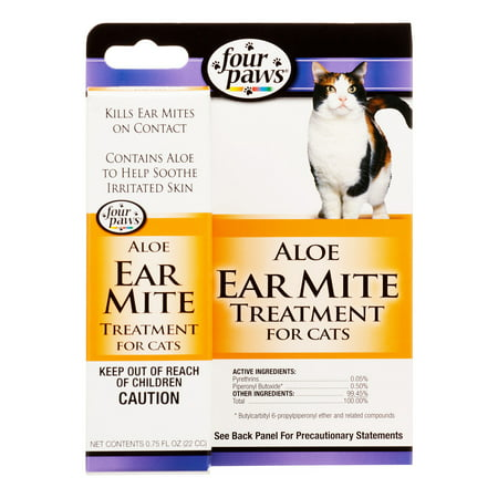 Four Paws Ear Mite Remedy for Cats -- 1 fl oz](Cat Paws Tattoo)