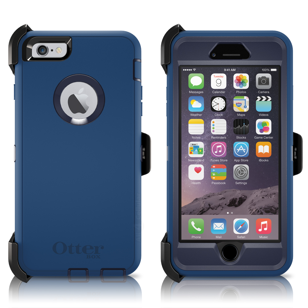 "OtterBox Defender Series Case & Holster for Apple iPhone 6 Plus / 6S Plus 5.5"" - Black (Certified Refurbished)"