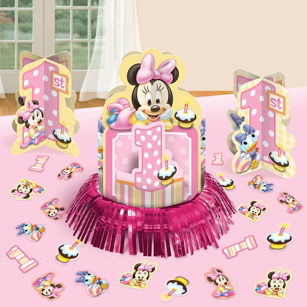 Minnie Mouse 1st Birthday Table Decorating Kit (Each) - Party Supplies