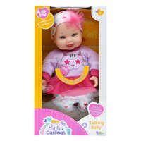 Little Darlings Toy Talking Baby Doll w/ 6 Sounds