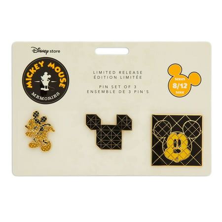 Disney Store Mickey Memories August Pin Set of 3 Limited Release New with - Halloween Disney Pins