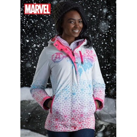 Marvel Avengers Womens Fade Ski Coat (Women Ski Jacket Columbia)