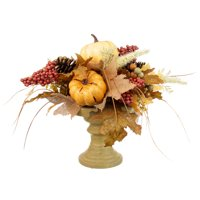 Way to Celebrate Harvest Creme Pumpkin Mix Thanksgiving Artificial Flower Arrangement