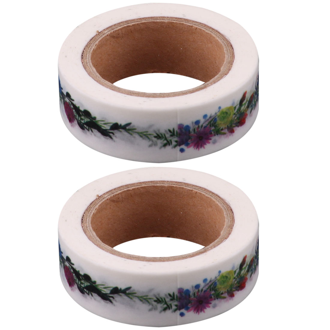 Student Washi Paper Flower Vine Print Parcel Sticker DIY Tape 1.5cm Width 2pcs