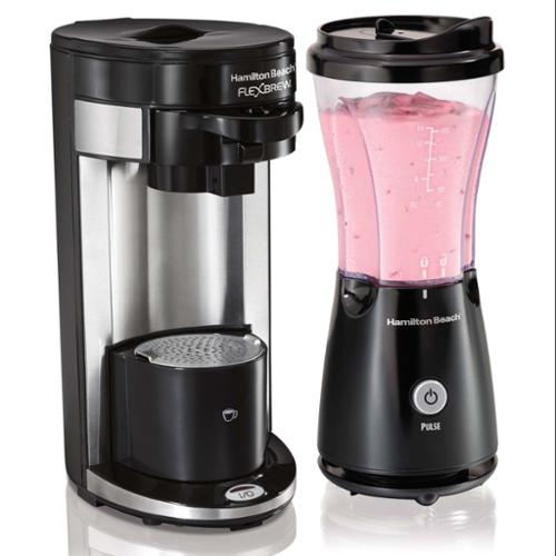 Hamilton Beach K-Cup FlexBrew Single Serve Coffeemaker & Personal Blender Combo