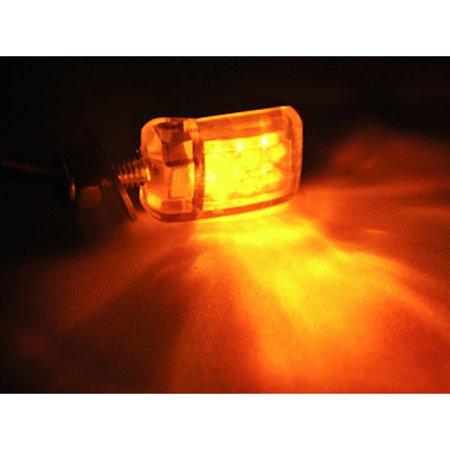 Mini Custom LED Turn Signal Indicator Lights Lamp For Yamaha 60 80 90 100 175 250 400 Enduro Motocross - image 1 de 5