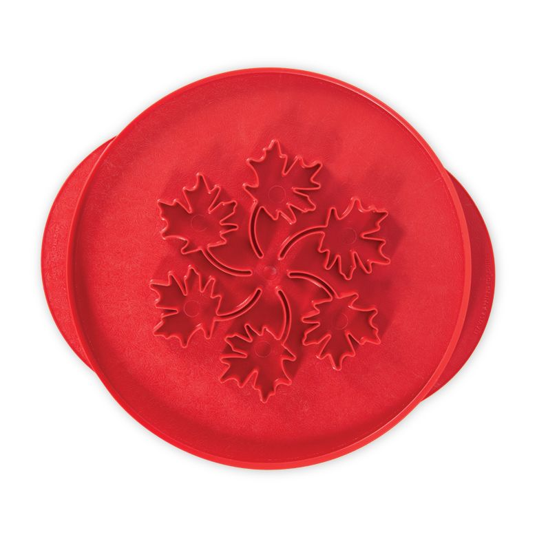 """Nordic Ware 12"""" Leaves & Apples Reversible Pie Top Cutter, BPA-free and Melamine Free Plastic, 10 Year Warranty, 0.69 lbs, 12.25 in. W: 12.25 in. H: 0.25 in."""