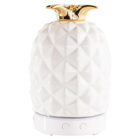 Better Homes & Gardens 100 mL Cool Mist Ultrasonic Aroma Diffuser, Pineapple White Floor Diffuser