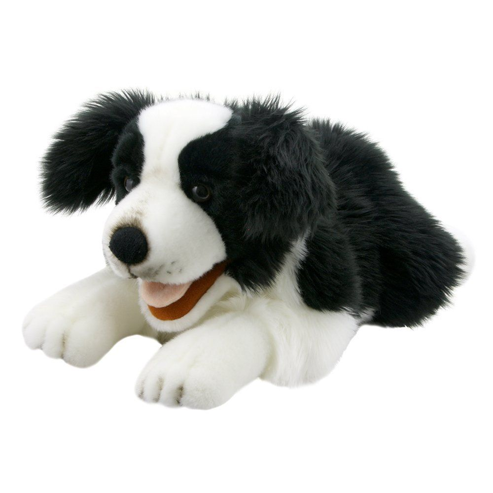 Border Collie Puppet 20 inch Stuffed Animal by Puppet Company (003007) by Puppet Company