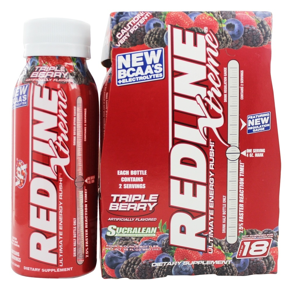 Vital Pharmaceuticals VPX Redline Xtreme Ultimate Energy Rush Drink, 8 oz