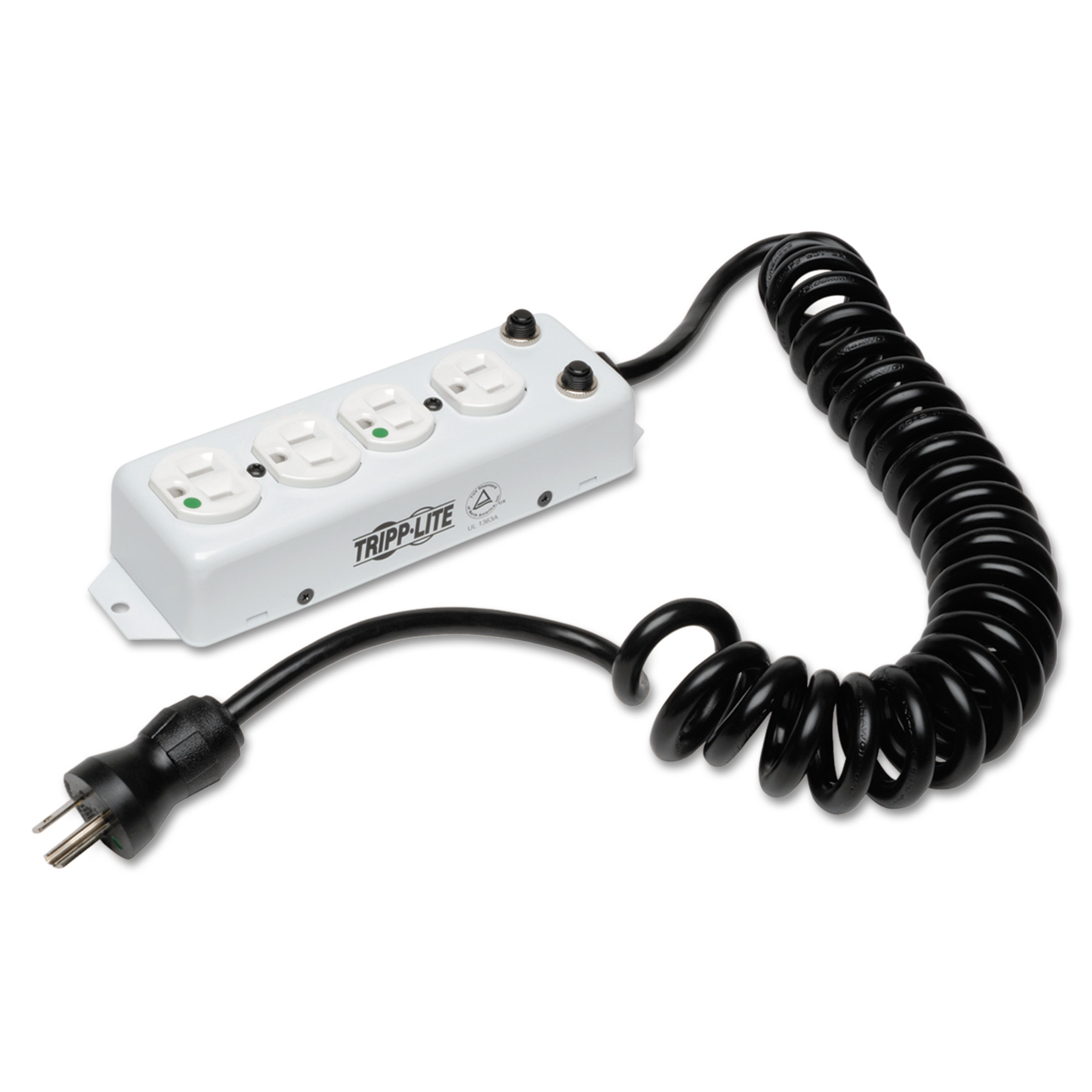 Tripp Lite Medical-Grade Power Strip for Patient Care Areas, 4 Outlets, 10 ft Cord, White